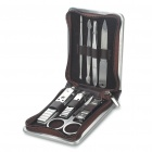 Portable 8-in-1 Stainless Steel Manicure Personal Beauty Sets w/ PU Leather Case