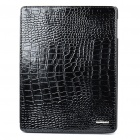 Elegant Protective Crocodile Pattern Leather Case for iPad 2 - Black