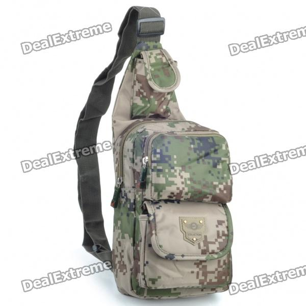 Cool Camouflage Terylene One-Shoulder Messenger Bag stylish camouflage terylene waist bag