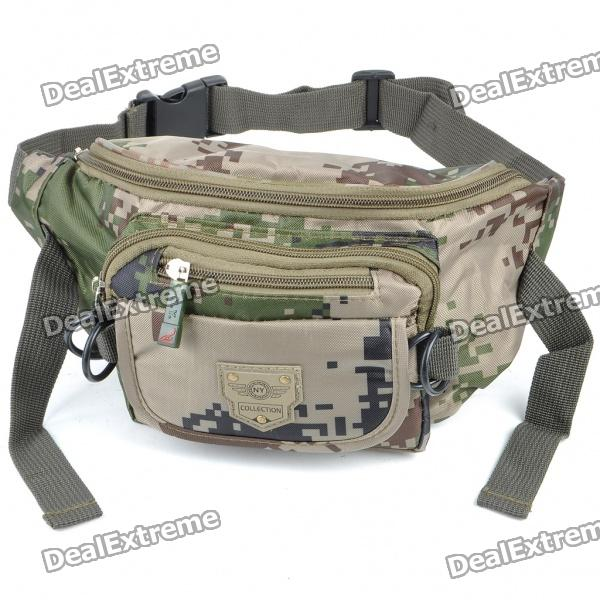 Stylish Camouflage Terylene Waist Bag stylish camouflage terylene waist bag