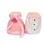 Wedding Dress Style Resin Toothpick Holder - Pair
