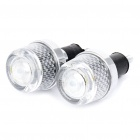 Motorcycle Handlebar Bar End 3-LED RGB Lights - Pair (3 x LR1130)