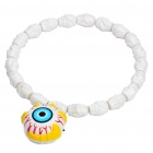 Cool Skull Head Necklace w/ Eyeball Style Flashing Colorful Light for Halloween (1xAG13 + 2xAG10)