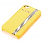 Designer Protective PC zurück Fall w / Screen Protector / Reinigungstuch für iPhone 4 - Yellow