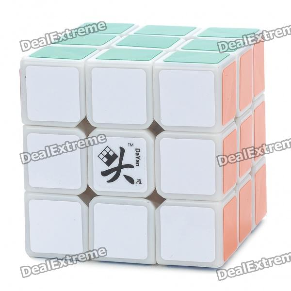 DAYAN 5 ZHANCHI 3x3x3 Brain Teaser Magic IQ Cube - White new dayan gem cube vi magic cube black and white professional pvc