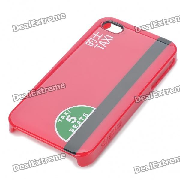 Designer's Protective PC Back Case w/ Screen Protector/Cleaning Cloth for iPhone 4 - Red