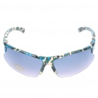 Outdoor Sports Plastic Frame PVC Lens Sunglasses - Camouflage