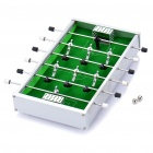 Mini Table Soccer Game Toy - White + Green + Black