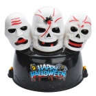 Happy Halloween 3-Skull Style Cap Hat with 3-LED Blue Flashing Light & Sound Effect (3xAA)