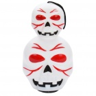 Halloween Skull Style Hand Lamp Lantern with Red/Blue LED Flashing Light & Sound Effect (3xAG13)