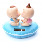 Solar Powered Kiss Baby Head Shaking Desktop Toy - Random Color