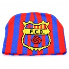 Football Team Logo Knitted Hat - Barcelona (Red + Blue)