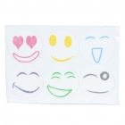Cute Cartoon Smiling Face Mosquito Repeller Stickers (6-Piece Pack)