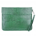 Protective Crocodile PU Leather Case with Hand Strap for Ipad/Ipad 2 - Green