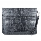 Protective Crocodile PU Leather Case with Hand Strap for Ipad/Ipad 2 - Black