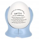 Cute Ceramic Damp Moisture Absorbing Mist Dehumidifier Egg (White + Blue)