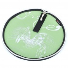 Stylish Portable Neoprene Round Mouse Pouch Pad - Green + Black