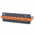 USB/AC Powered High Speed USB 2.0 10-Port HUB w/ USB Cable (Black + Orange)