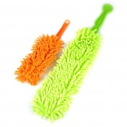 Soft Microfiber Chenille Car Cleaning Dusters - Orange + Green (2-Piece Pack)