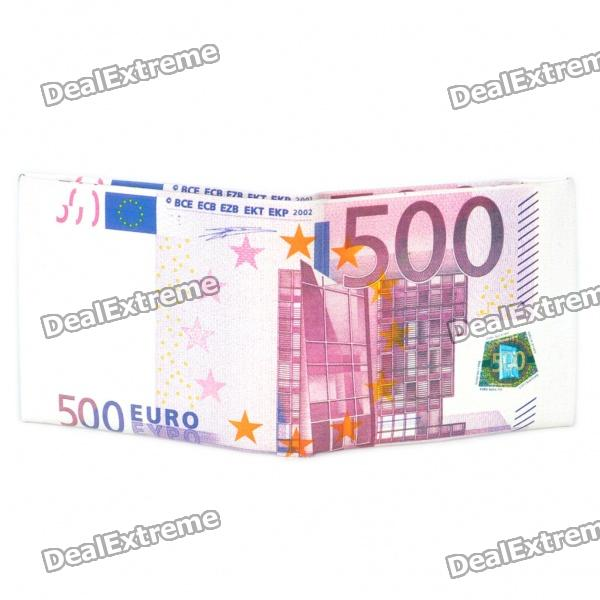 Unique Creative 500 Euro Bill Style Wallet