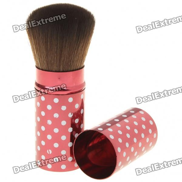 Portable Dots Retractable Makeup Blush Brush (Random Color)