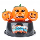 Halloween 3-Pumpkin Style Cap Hat with 3-LED Flashing Light & Sound Effect (3xAA)