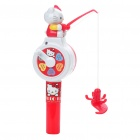 Cute Cartoon Hallo Kitty Magnetic Fishing Game Toy (weiß + rot)