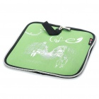 Stylish Portable Neoprene Square Mouse Pouch Pad - Green + Black