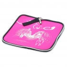 Stylish Portable Neoprene Square Mouse Pouch Pad - Pink + Black