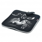 Stylish Portable Neoprene Square Mouse Pouch Pad - Black