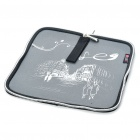 Stylish Portable Neoprene Square Mouse Pouch Pad - Gray + Black