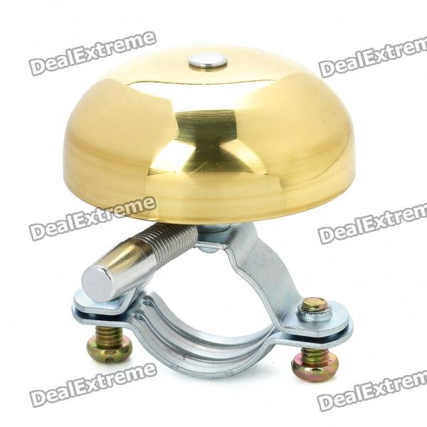 Copper Aluminum Alarm Handlebar Bicycle Bell Ring - Golden + Silver (100dB)
