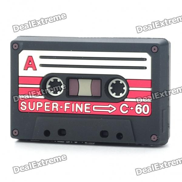 Unique Mini Cassette Tape Shaped Headset Cables Organizer/Winder (Random Color)