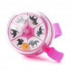 Cute Horserace Style Alarm Handlebar Bicycle Bell Ring - Pink