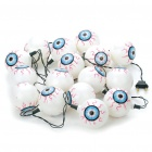 Halloween Plastic 16-Eye Ball Style Multi-Color String Lights (210cm-Length/220V)