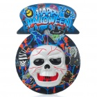 Halloween Wall-Mount Scary Skull with Voice Activated Light & Sound (3 x AA)