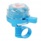 Cute Tambourine Style Alarm Handlebar Bicycle Bell Ring w/ 6-LED Colored Lights (Random Color)