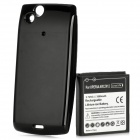 Replacement High Capacity 3.7V 3500mAh Battery Pack with Back Case for SonyEricsson XPERIA ARC/X12