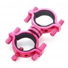 Universal Adjustable Aluminum Alloy Cycling Bicycle Flashlight Torch Mount Holder - Rose Red
