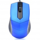 Stylish 1200DPI USB Wired Optical Mouse - Blue + Black (127CM-Cable)