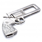 Revolver Shaped Metal Safety Belt Buckle - Titanium + Blue