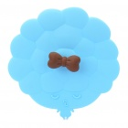 Cute Alice Silicone Bowknot Cup Cover Lid (Random Color)