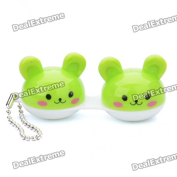 Cute Cartoon Contact Lens Case with Metal Chains (Random Color)