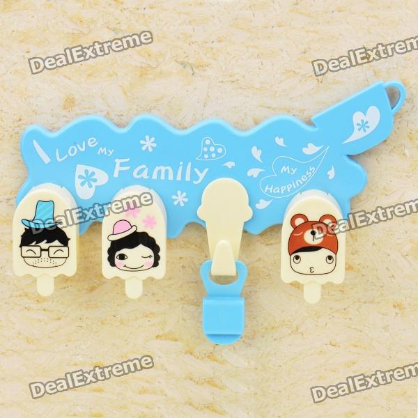 Cute Love My Family Toothbrush Household Set (Random Color)