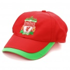 Water Resistant Football/Soccer Team Emblem Nylon Cap Hat - Liverpool (Red + Green)