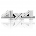 "3D ""4x4"" Pattern Car Decorative Sticker - Silver"