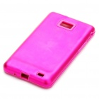 Stylish Protective Aluminum Housing Silicone Back Case for Samsung Galaxy S 2/i9100 - Pink
