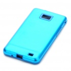 Stylish Protective Aluminum Housing Silicone Back Case for Samsung Galaxy S 2/i9100 - Blue