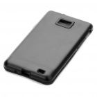 Stylish Protective Aluminum Housing Silicone Back Case for Samsung Galaxy S 2/i9100 - Black
