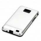 Stylish Protective Aluminum Housing Silicone Back Case for Samsung Galaxy S 2/i9100 - Silver